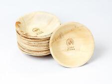quau, 25 Einwegteller aus Palmblatt, rund, Ø16cm Palmblattteller, 425ml, Schale