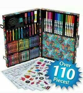 Crayola Trolls World Tour Art Case Kit Set 110pc Kids Crayon Drawing Crafts NEW