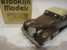 1/43 BROOKLIN 14 CADILLAC V16 CONVERTIBLE COUPE 1940