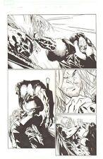X-Men #196 p.17 - Sabretooth vs. Pandemic - 2007 Signed art by Humberto Ramos