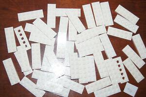 Lego 48 WHITE 2X6 LONG FLAT PLATES / Blocks # 3795 HOUSE / CASTLE (A38) GENUINE