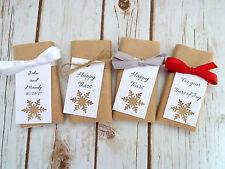 5 Packs of Kraft Paper Snowflake Winter Wedding Personalised Tissues