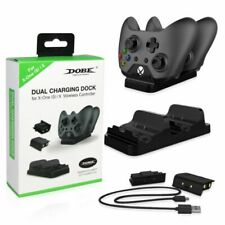 For XBOX ONE Dual Charging Dock Station Controller Charger+ 2 Extra Battery Pack