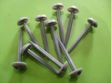 PACK OF 10 GREY PLASTIC MUSHROOM GROUND SHEET PEGS , CAMPING, TENT