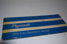 Vintage 1969 Plymouth Fury Car Operator's Manual