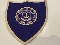 Rhode Island State College 1940s Vtg Wool Felt Shield Pennant University Scarce