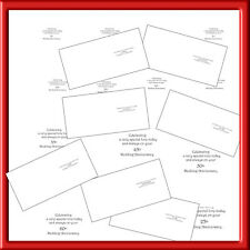 "6"" X 6"" X 40 ANNIVERSARY INSERTS  FOR SMALLER CARDS(FROM 30--60 YEARS)"