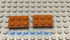 LEGO TWO Dark Orange 2x3 Plate 7194 4491 4507 7133