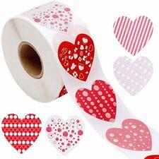 Love Heart Wedding invite Craft Handmade Gift Stickers Labels Self adhesive 25mm