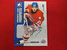 2005 ITG  Derek Roy  Heroes and Prospects autograph hockey card  Sabres
