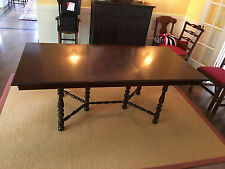 Antique Mahogony Jefferson Woodworking Co. Louisville, Ky. Extension Table 6'6""