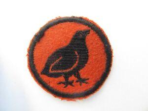 Vintage late 1920's/early 1930's Boy Scout patch - Red felt Bobwhite patrol