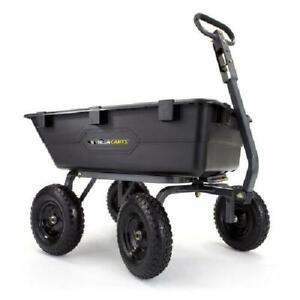 Dump Cart Garden Wagon Lawn Yard Steel Utility Heavy Duty Tractor 1200 lb. Mower