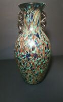 Murano Italian Style Mid Century Modern Decor Urn Vase End Of Days Millefiori