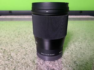 Sigma F1.4 DC DN 16mm Contemporary Lens for Sony E Mount Camera