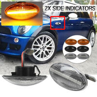 Pair LED Side Marker Lights Indicator For Mini Cooper S JCW Cabri