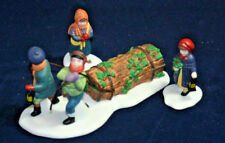 BRINGING HOME THE YULE LOG  set of 3 The Heritage Collection Department 56