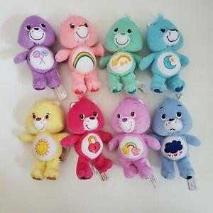 MINI Care Bears LOT OF 8 Plush Share Wish Cheer Secret Funshine Grumpy Bedtime