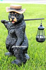 BEAR STATUE WITH SOLAR LIGHT SOLAR BEAR LANTERN FIGURINE BEAR BEAR