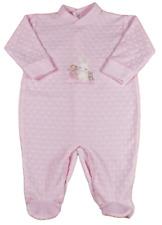 Baby sleepsuit babygro velour girl boy