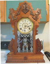 Antique Gilbert - Citizen No. 19 - Gingerbread Mantle Clock Kitchen Parlor