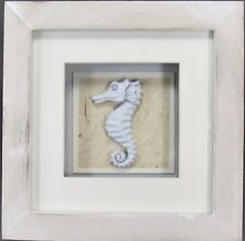 Seahorse Shadow Box Nautical Sea Life Wall Art Home Decor