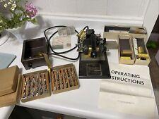 Franklin Sigent Universal Match Book Imprinter Machine w/ Extras
