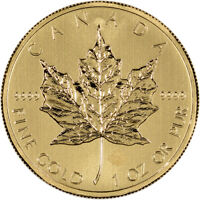 Canada Gold Maple Leaf - 1 oz - $50 - .9999 Fine - Random Year
