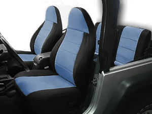 Jeep Wranglar TJ 1997-2002 Wetsuit Neoprene Seat Cover Set Front & Rear-Charchol