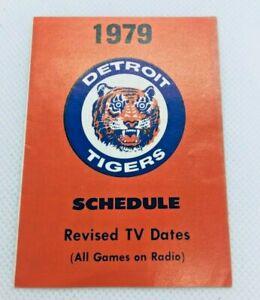 1979 Detroit Tigers Baseball Schedule Stroh's Beer #B