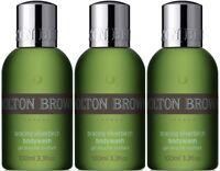 3 x 100ml Molton Brown Bracing Silverbirch Body Wash