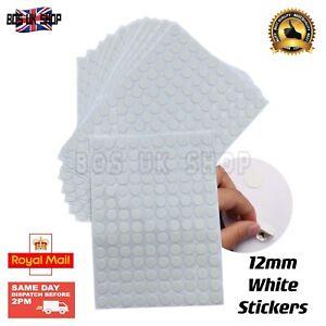 140Pcs PVC Screw Cap Cover Stickers 12mm White Screw Nail Holes Self-Adhesive