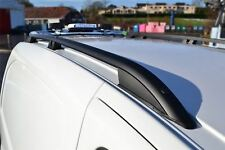 To Fit 07 - 16 Peugeot Expert LWB Polished Aluminium Black Metal Roof Rails Rack