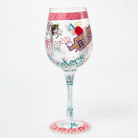 LOLITA Love My Wine Sorority Girl 15oz Glass*BNIB*SALE $$***