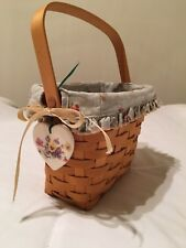 Longaberger 1998 Dresden Tour Basket 9X7X5 In. Protector/Liner/Hang Tag/ Mint