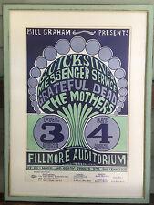 Grateful Dead 66 BG9 Mothers Quicksilver Concert Poster Museum Frame Wes Wilson