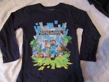 Boys NEXT Minecraft Long Sleeve T-Shirt, Top. Size 4-5 years. 100% Cotton. JINX