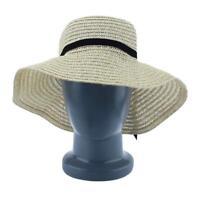 Hot Women's Wide Brim Summer Beach Sun Hat Straw floppy Elegant Bohemia cap AE
