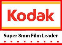 Kodak Super 8mm White/Grey Movie Film Leader 50ft reel (LOWEST PRICE!)