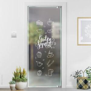 Guten Appetit Glastattoo Glasaufkleber Glastür Tür Fenster Glas Sticker G501