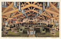 D67/ Yellowstone National Park Postcard c'10 Haynes Grand Canyon Hotel Lounge 13
