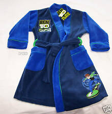 Cartoon Network Ben 10 Boys Blue Warm Fleece Dressing Gown Size 4 New