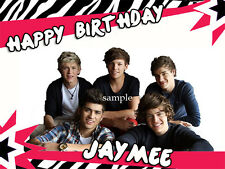 ONE DIRECTION 1D Edible Photo CAKE Topper Personalized ICING Image FREE SHIPPING