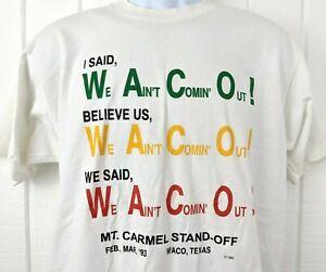 Vintage Waco Texas Siege Massacre Branch Davidian Souvenir Graphic T Shirt RARE