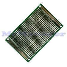 Foré Double Sided Copper Prototype PCB matrice Epoxy Fibre de Verre Planche 60x80mm