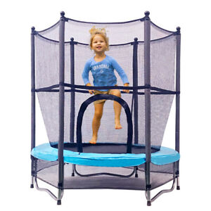 "55"" mini Kids Toy Trampoline 4.5ft Exercise Jumping Trampoline Indoor/ Outdoor"