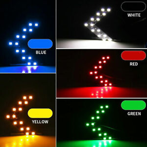 2pcs Side Rear View Mirror 14SMD LED Lamp Turn Signal Light Car Accessories Auto