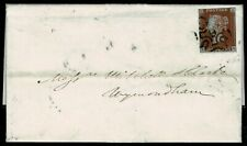 "1841 ONE PENNY RED-BROWN 1d SG8 ""KG"" ON COVER CANCELLED BY No 9 IN MALTSE CROSS"