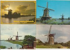 Lot 4 cartes postales anciennes PAYS-BAS HOLLANDE NEDERLAND MOLEN MOULIN 5