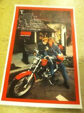 Vintage 1976 Harley Sportster Motorcycle Advertisement Poster Home Decor Man Cav